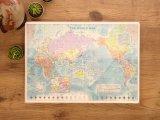 【ネコポスOK】 世界地図の下敷き A4