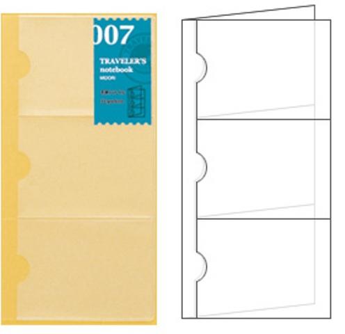 画像2: 【ネコポスOK】 トラベラーズノート リフィル レギュラー [007] 名刺ファイル