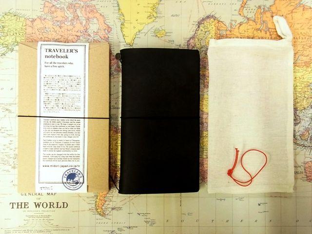 画像1: 【ネコポスOK】 Traveler's Notebook/トラベラーズノート 黒