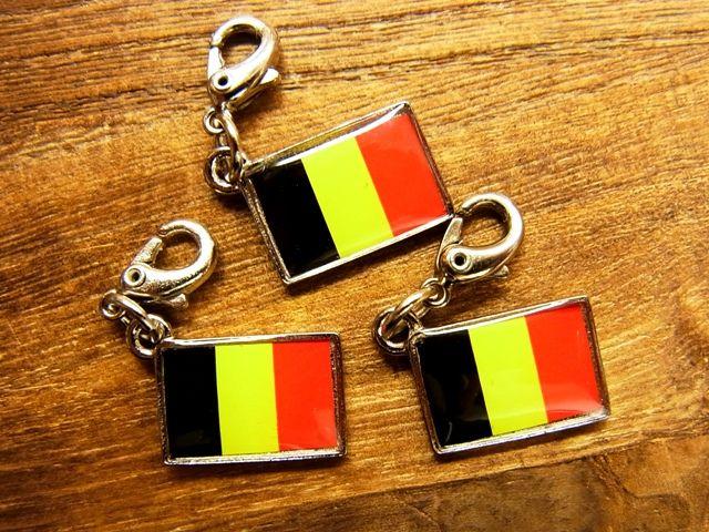 画像2: 【ネコポスOK】 世界の国旗 チャーム [ベルギー] 1個