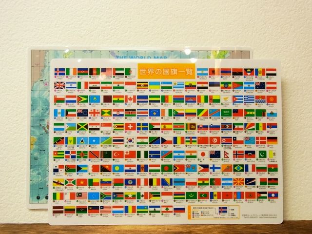 画像5: 【ネコポスOK】 世界地図の下敷き A4