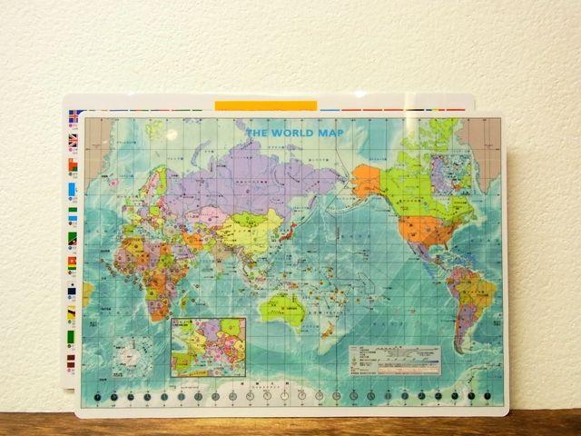 画像4: 【ネコポスOK】 世界地図の下敷き A4