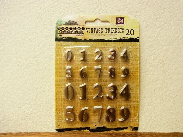 画像1: 【メール便OK】 アメリカ BO BUNNY VINTAGE TRINKETS ナンバー S