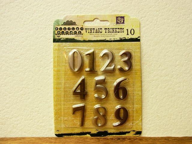 画像1: 【メール便OK】 アメリカ BO BUNNY VINTAGE TRINKETS ナンバー L