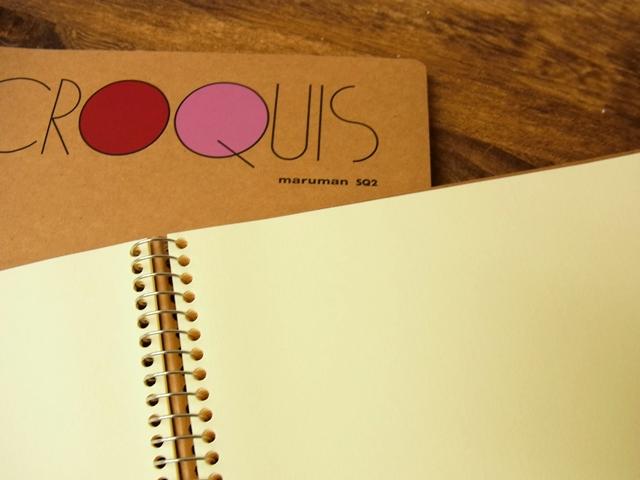 画像2: 【ネコポスOK】 CROQUIS BOOK/クロッキーブック SQ2 クリームコットン紙