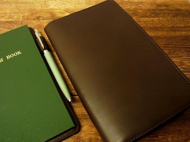 画像2: 【ネコポスOK】 旅屋本革製品 測量野帳用カバー