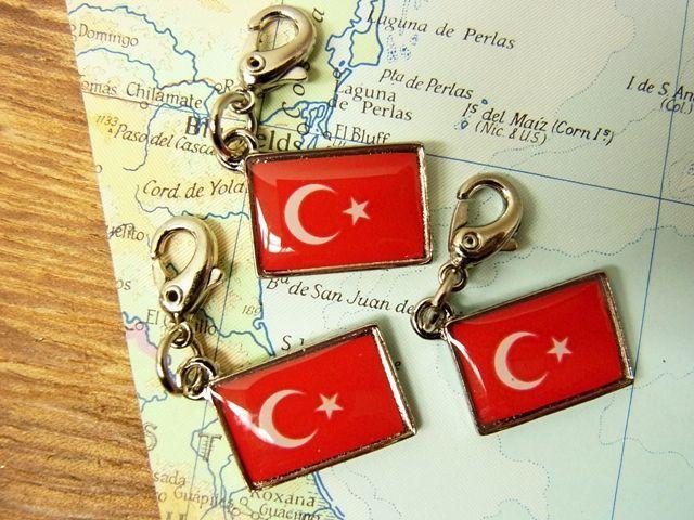 画像4: 【ネコポスOK】 世界の国旗 チャーム [トルコ] 1個
