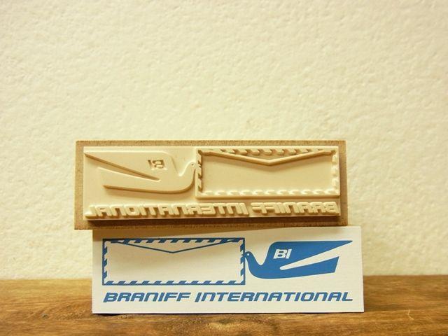 画像2: 【ネコポスNG】 トラベラーズノート BRANIFF/ブラニフ スタンプ エアメールフレーム