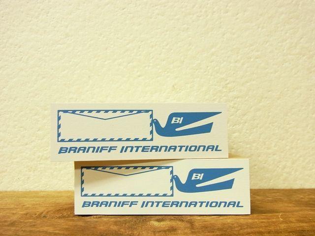 画像1: 【ネコポスNG】 トラベラーズノート BRANIFF/ブラニフ スタンプ エアメールフレーム