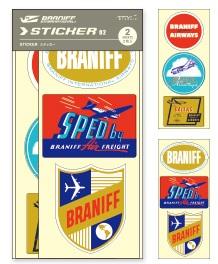 画像2: 【ネコポスOK】 トラベラーズノート BRANIFF/ブラニフ ステッカー02