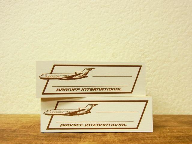 画像1: 【ネコポスNG】 トラベラーズノート BRANIFF/ブラニフ スタンプ 飛行機フレーム