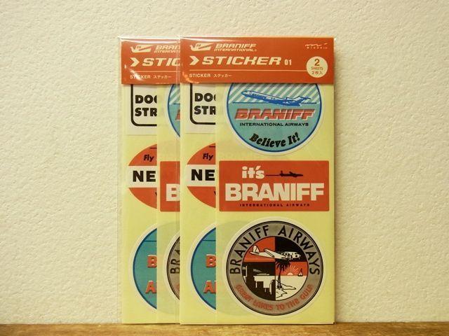 画像1: 【ネコポスOK】 トラベラーズノート BRANIFF/ブラニフ ステッカー01