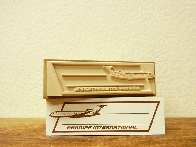 画像2: 【ネコポスNG】 トラベラーズノート BRANIFF/ブラニフ スタンプ 飛行機フレーム