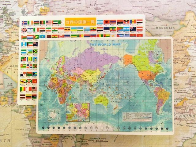 画像3: 【ネコポスOK】 世界地図の下敷き A4