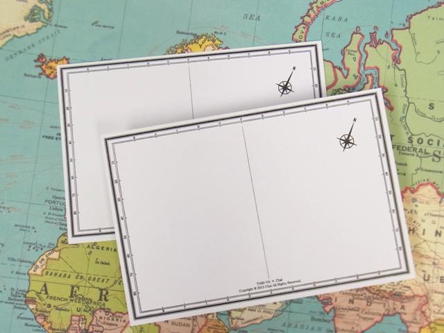 画像5: 【ネコポスOK】 旅屋オリジナル 白地図ポストカード WORLD/世界