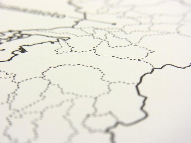 画像5: 【ネコポスOK】 旅屋オリジナル 白地図ポストカード IWATE/岩手