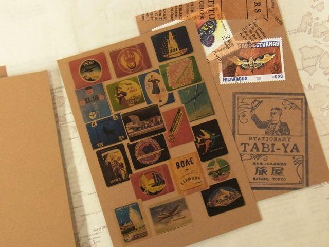 画像2: 【ネコポスOK】 旅屋オリジナル Paper Patch POST CARD 5枚セット