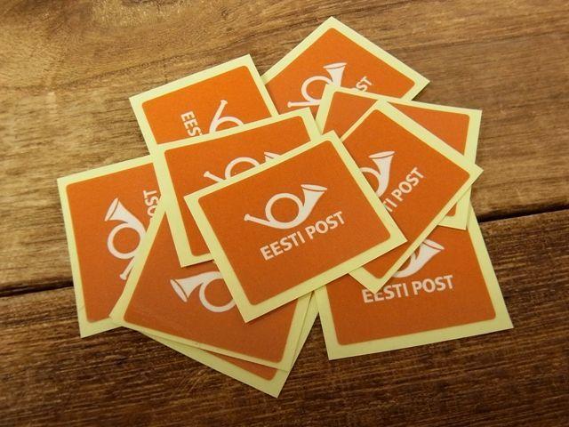 画像1: 【ネコポスOK】 郵政ステッカー エストニア 10枚セット 橙