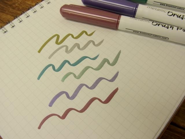 画像3: 【ネコポスOK】 オランダ Bruynzeel/ブランジール メタリックペン6色セット