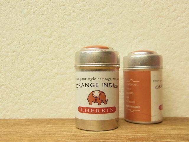 画像1: 【ネコポス△】 J.HERBIN/エルバン 万年筆用カートリッジ 6本入り インディアンオレンジ