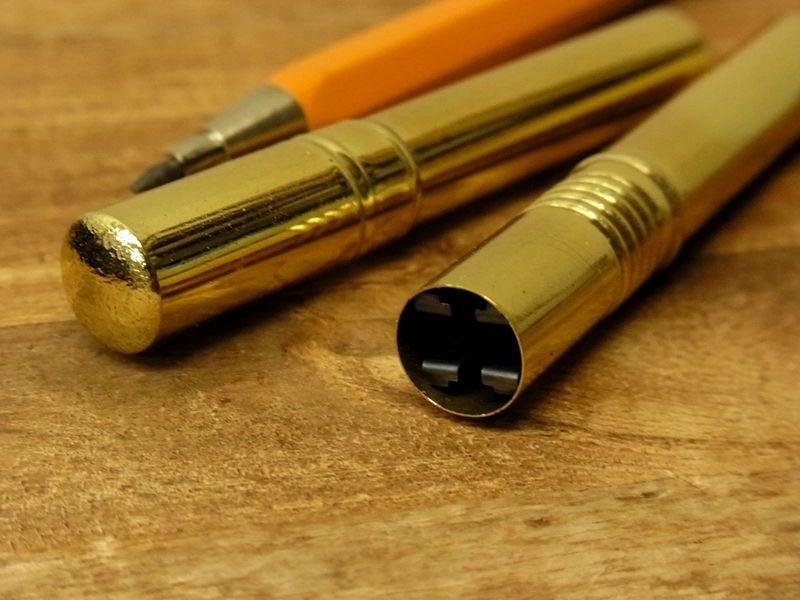 画像2:  【ネコポスOK】 OHTO/オート 真鍮製 2mm芯削り器