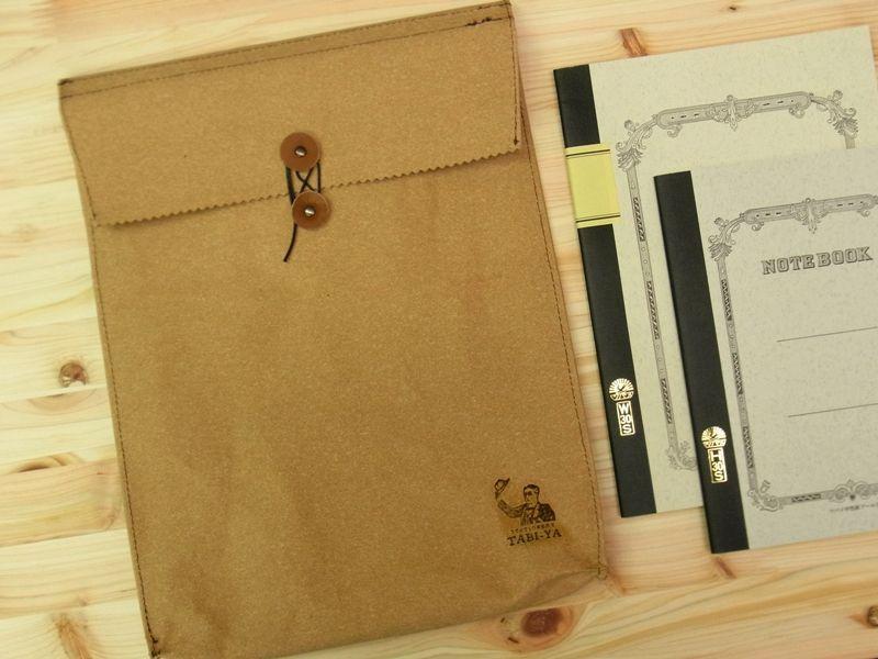 画像2: 【ネコポスNG】 旅屋オリジナル マチ付き書類ケース A4 レザー
