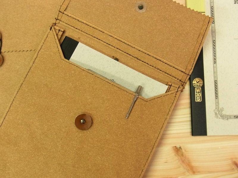 画像5: 【ネコポスNG】 旅屋オリジナル マチ付き書類ケース A4 レザー