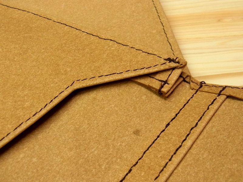 画像4: 【ネコポスNG】 旅屋オリジナル マチ付き書類ケース A4 レザー