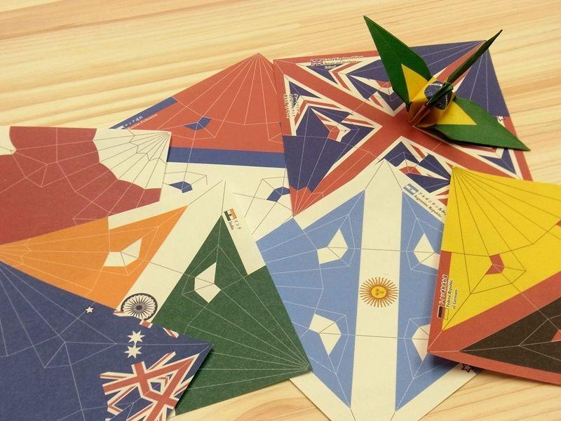 画像3: 【ネコポスOK】 おりがみ 小さいおりづる flag design 100枚入り
