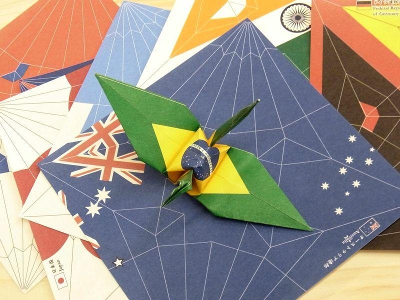 画像5: 【ネコポスOK】 おりがみ 小さいおりづる flag design 100枚入り
