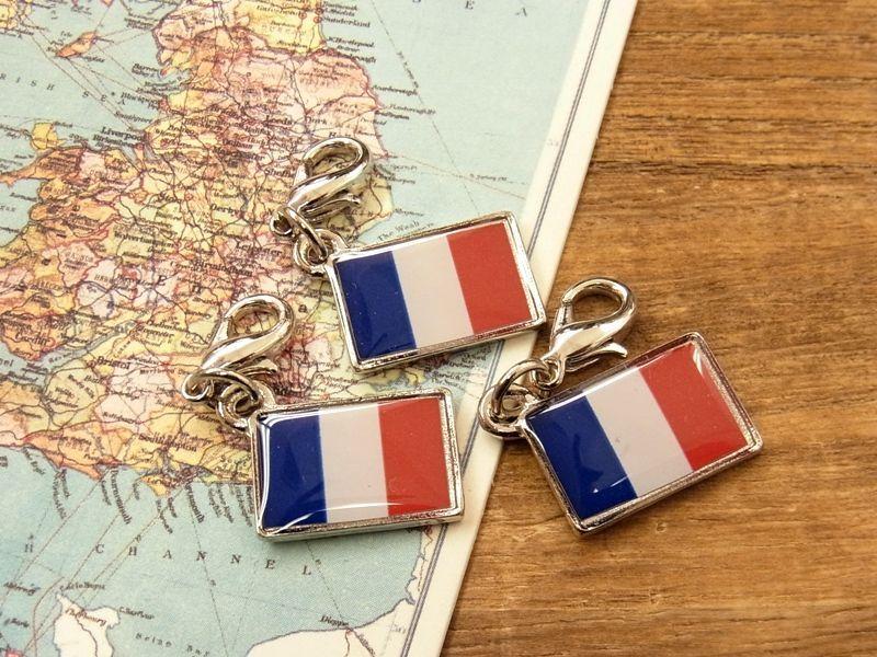 画像1: 【ネコポスOK】 世界の国旗 チャーム [フランス] 1個