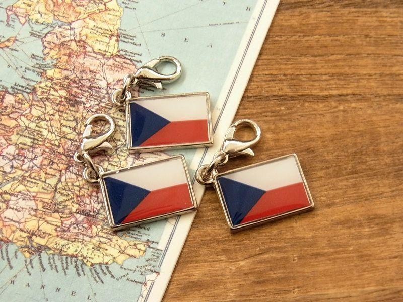 画像4: 【ネコポスOK】 世界の国旗 チャーム [チェコ] 1個
