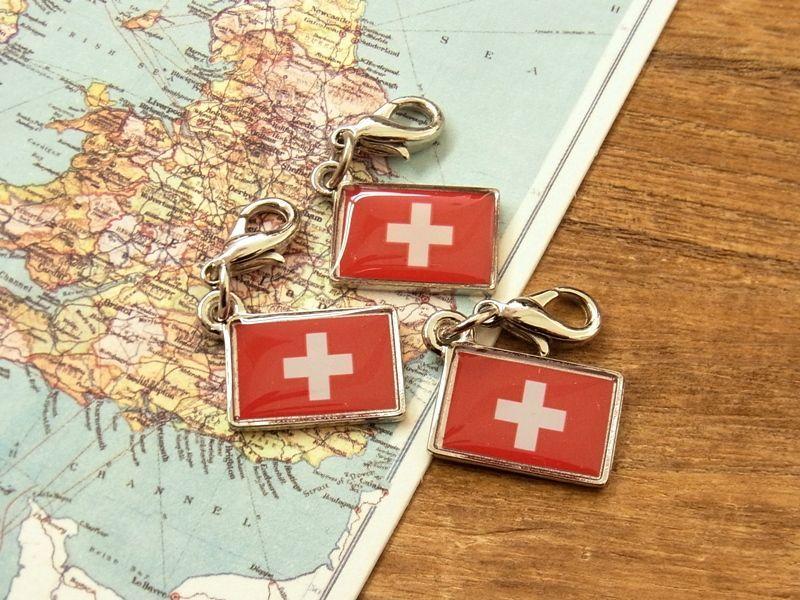 画像4: 【ネコポスOK】 世界の国旗 チャーム [スイス] 1個
