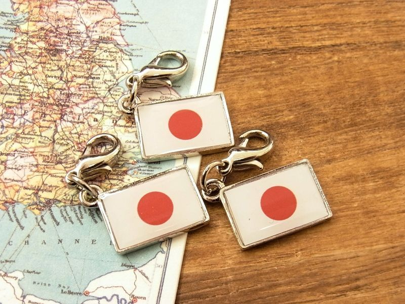 画像4: 【ネコポスOK】 世界の国旗 チャーム [日本] 1個