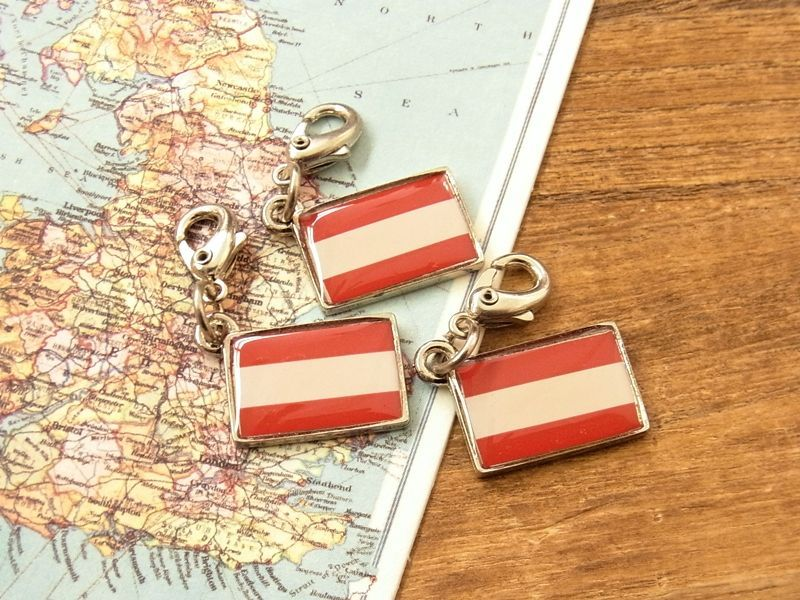 画像4: 【ネコポスOK】 世界の国旗 チャーム [オーストリア] 1個