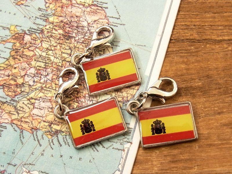 画像4: 【ネコポスOK】 世界の国旗 チャーム [スペイン] 1個