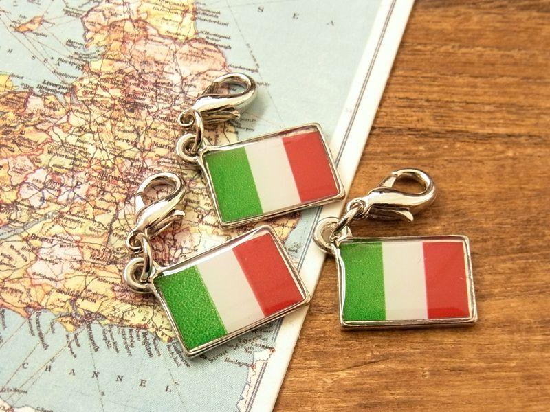 画像4: 【ネコポスOK】 世界の国旗 チャーム [イタリア] 1個