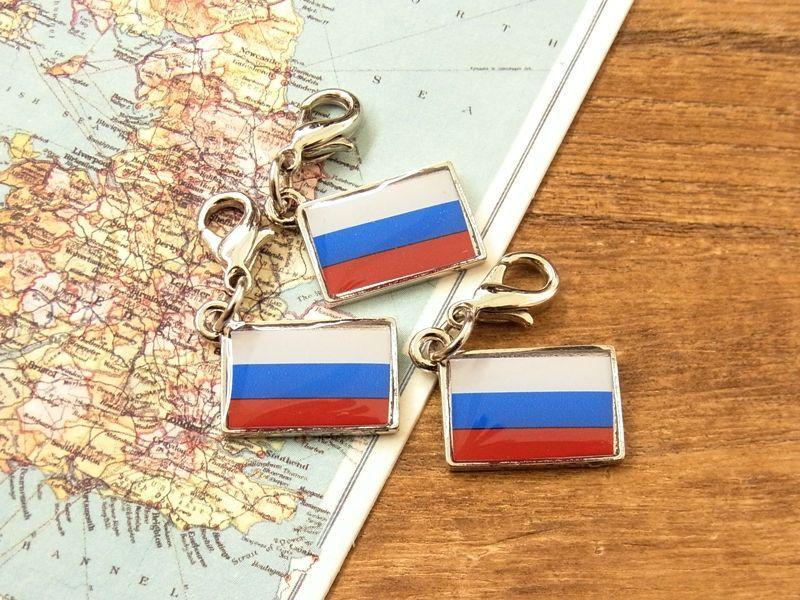 画像4: 【ネコポスOK】 世界の国旗 チャーム [ロシア] 1個