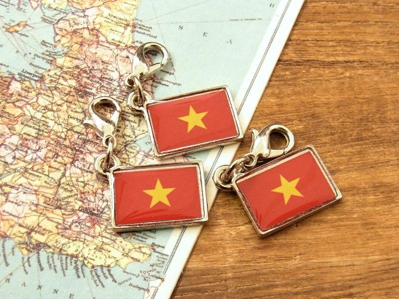 画像4: 【ネコポスOK】 世界の国旗 チャーム [ベトナム] 1個
