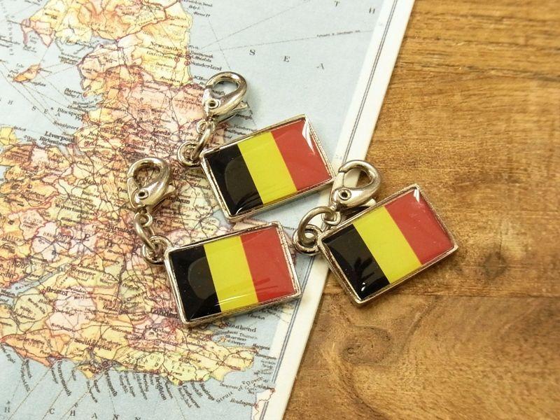 画像4: 【ネコポスOK】 世界の国旗 チャーム [ベルギー] 1個