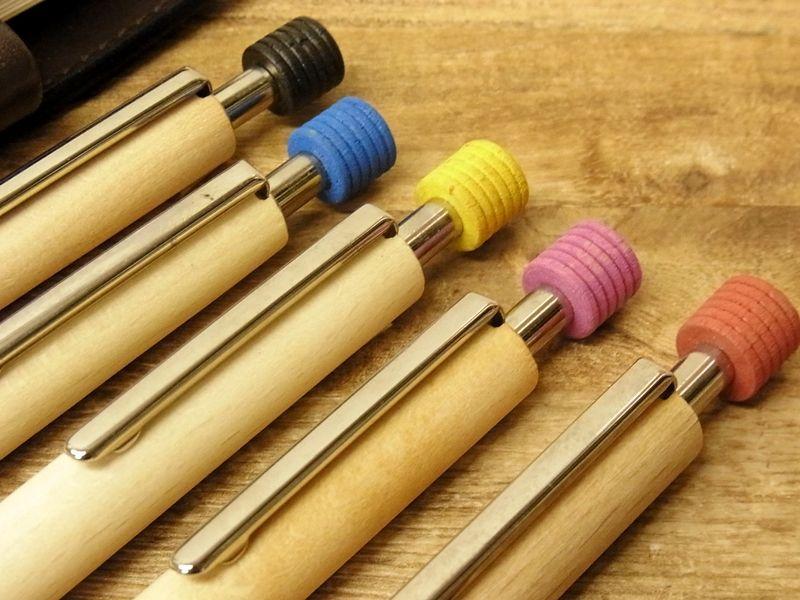 画像4: 【デットストック】【ネコポスOK】 ドイツ Ehmann/イーマン 木軸ボールペン レッド