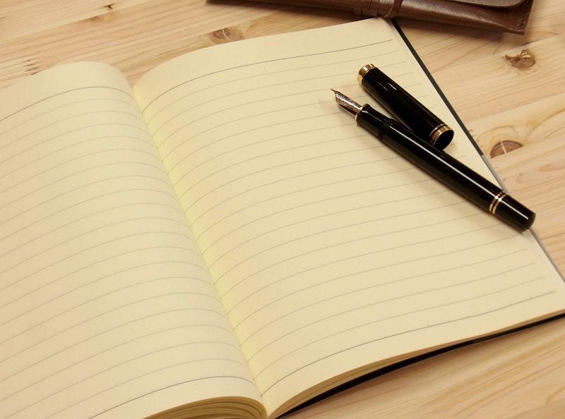 画像4: 【ネコポスOK】 萬年筆紙で作った旅屋オリジナルノート NOTIZBUCH A5 横罫