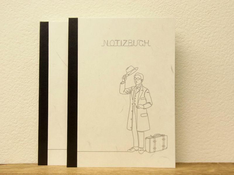 画像1: 【ネコポスOK】 萬年筆紙で作った旅屋オリジナルノート NOTIZBUCH A5 横罫