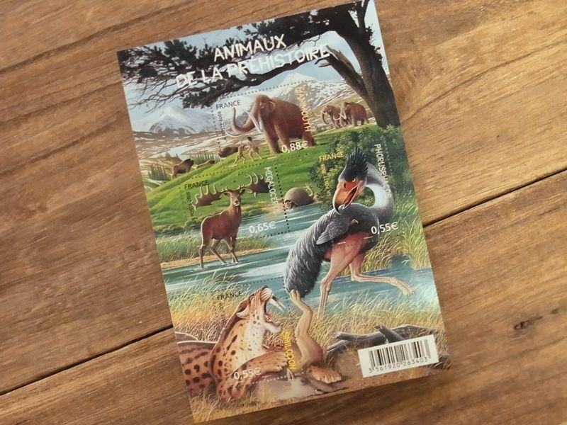 画像1: 【ネコポスOK】 外国未使用切手 フランス 先史時代の動物 (1シート)