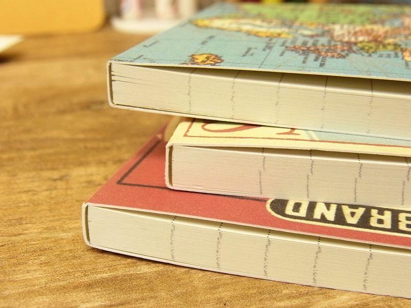 画像3: 【ネコポスOK】 アメリカ CAVALLINI/カバリーニ POCKET notebook set VINTAGE MAPS