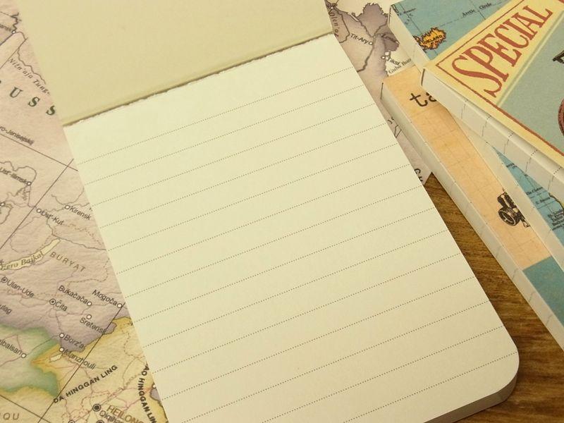 画像2: 【ネコポスOK】 アメリカ CAVALLINI/カバリーニ POCKET notebook set VINTAGE MAPS