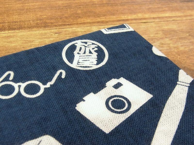 画像2: 【ネコポスOK】 旅屋オリジナル てぬぐい 紺