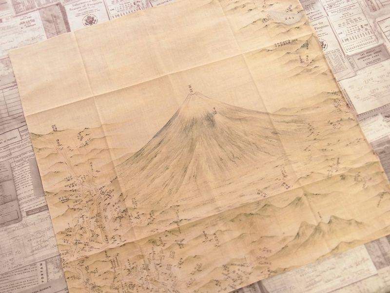 画像2: 【ネコポスOK】 inoh's 伊能忠敬 伊能図ハンカチ 富士