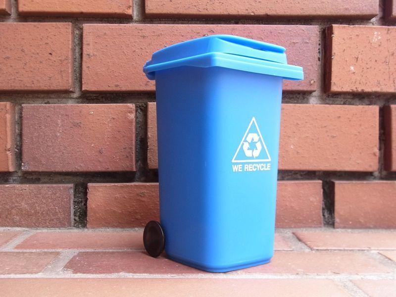 画像1: 【ネコポスNG】 リサイクル ミニボックス ペン立て