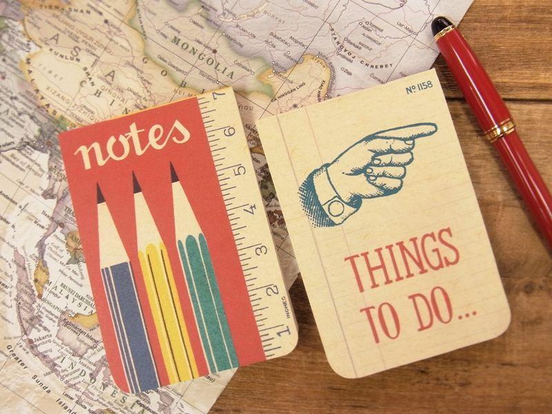 画像1: 【ネコポスOK】 アメリカ CAVALLINI/カバリーニ POCKET notebook set OFFICE